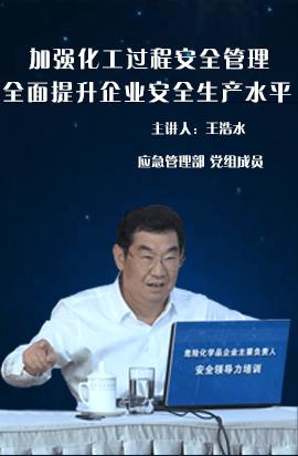 王浩水:加强化工过程安全管理,全面提升企业安全生产水平