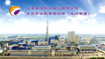 山东新龙科技股份有限公司全员安全教育培训班(车间管理)